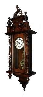 German wall clock Thomas Ernst Haller Uhrenfabrik, Schwenningen