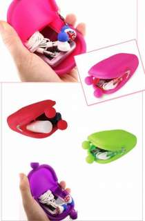 Jelly Rubber Silicone Cosmetic Makeup Bag Coin Purses Wallets