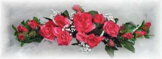 MAUVE PINK SWAG ~ Silk Wedding Flowers Roses Arch Gazebo Decor