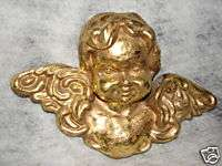 Vintage 12 inch Wing Span Gold Angel   Hang On Wall