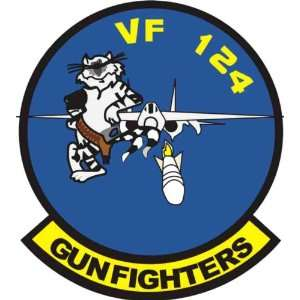 US Navy VF 124 Gunfighters Squadron Decal Sticker 5.5