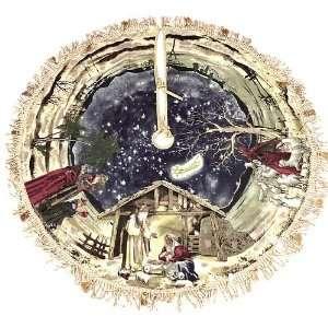 Painting Inspired 48 Holy Family Nativity Christmas Tree Skirt #H0880