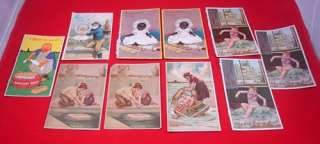 Antique VICTORIAN SOAP TRADE CARDS Sunlight Swan Lifebuoy Lux 19th