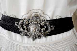 Edwardian FRENCH Sterling Silver Ladies Belt CHERUB Angels MUST SEE