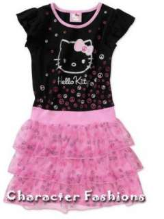 HELLO KITTY Ruffle DRESS Size 4 5 6 6X 7 8 10 12 14 16
