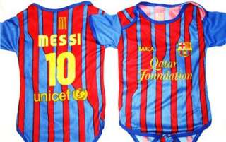 Barcelona Baby Toddler Infant Jersey 12 24m BARCA MESSI