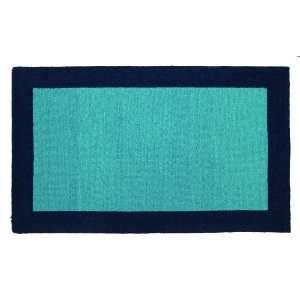 Trina Turk 3 by 5 Feet Hook Rug, Bright Solids, Dark Blue