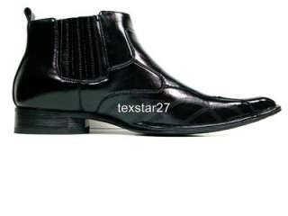 Mens D Aldo Black Casual Ankle High Dress Boots Leather Lined Styled