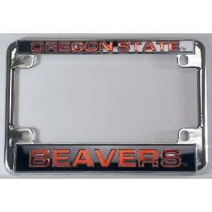 Beavers Chrome Motorcycle RV License Plate Frame