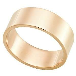 com 7.0 Millimeters, Flat High Polished 14Kt Gold Heavy Wedding Band