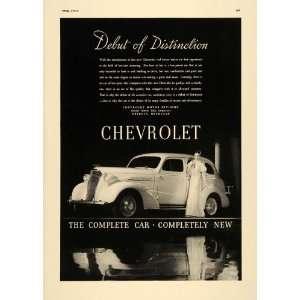 1937 Ad General Motors Chevrolet Motorcars Woman White