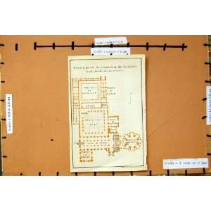 Map 1913 Plan Planta Geral Mosteiro Batalha Spain: Home & Kitchen