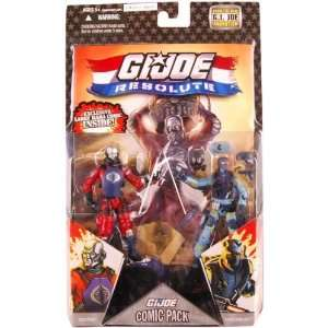 Action Figures Comic Book 2Pack Destro vs. Shockblast Toys & Games