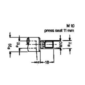 RH Quick Change Drill Chuck Adapter for Morbidelli, Weeke