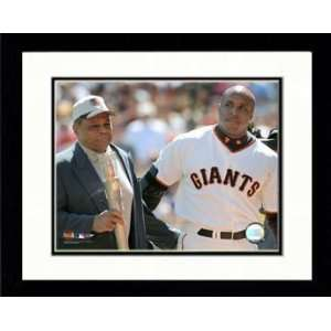 San Francisco Giants   04 Barry Bonds w/Willie Mays after his 660th