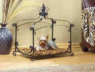 Little Small Dog/Cat Pet Bed Metal Off Floor & Canopy