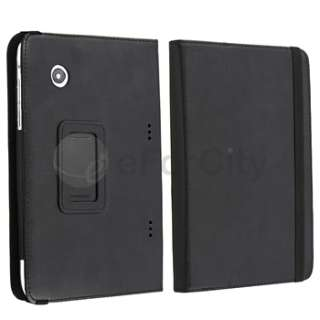 LEATHER CASE COVER+SCREEN GUARD+HEADSET FOR HTC FLYER