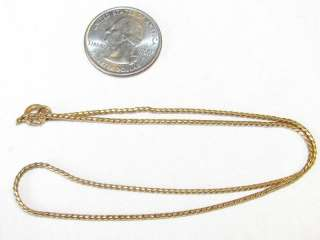 WELL MADE 15 LONG ORNATE GOLD TONE METAL ANTIQUE VINTAGE NECKLACE