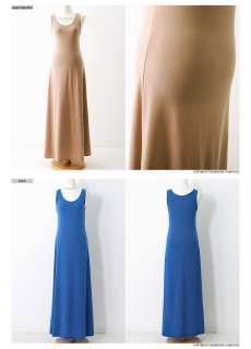 MUST HAVE Womens cotton a line long maxi dress top BLACK/BROWN/KHAKI