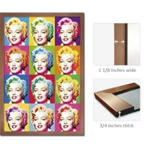 Bronze Framed Marilyn Monroe Poster Visions Heads Fr8878