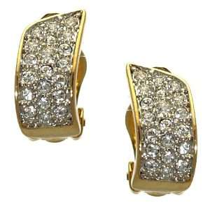 Ilaria Gold Plated Crystal Clip On Earrings Jewelry