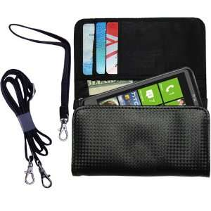Black Purse Hand Bag Case for the HTC Mazaa with both a