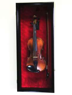 Violin / Mandolin Display Case Cabinet Wall Rack Holder