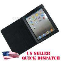 FOR APPLE I PAD2 IPAD2 PAD 2 BLACK LEATHER PORTFOLIO CASE STAND COVER