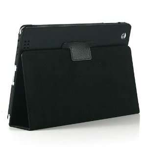 Black / PU Leather Stand Case Cover for Apple iPad 2