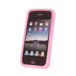 Pink Silicone Skin Case Cover for Apple iPhone 4G 4th