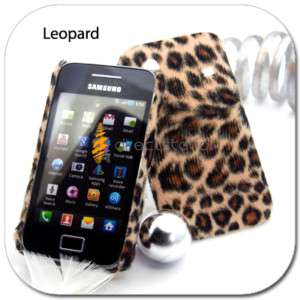 Leopard VELVET Hard Cover Case Samsung Galaxy Ace S5830