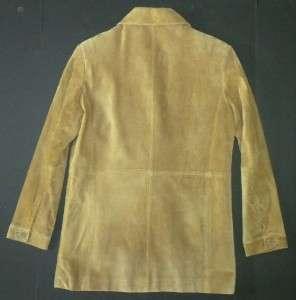 AK/Ann Klein Camel Suede Blazer/Jacket Womens Sz XS EXCELLENT