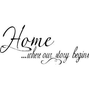 home decorating on our story wall quote wall words wall decor quotes home kitchen - Home Decor Quotes