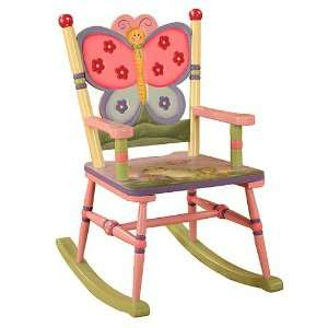 Teamson Childrens Magic Garden Wooden Rocking Chair