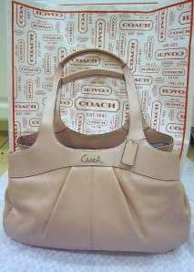 NWT Authentic COACH Leather Lexi Pink Blush Handbag Purse Satchel
