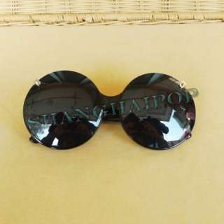 Lady Gaga Round Lens Large Sunnies Shade Leopard Black Frame