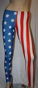 FLAG STARS & STRIPES USA PRINT LADY GAGA LEGGINGS INSANITY