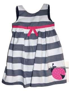 Gymboree Cape Cod Cutie Ladybug Green or Blue Stripe Dress NWT