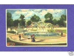 HTL144 Koehler Hold to Light postcard, Buffalo, NY park |