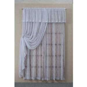 Lattice Crush Lace Curtain Panel Valance
