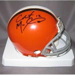 Colt McCoy Autographed Cleveland Browns Mini Helmet