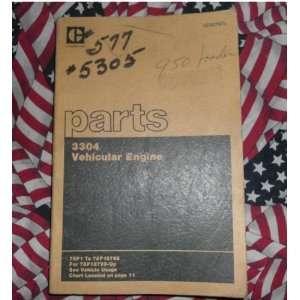 Caterpillar 3304 Vehicular Engine Part Book 78P1 78P187 caterpillar