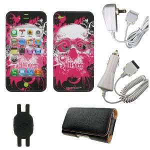 Pink Big Skull Design Smart Touch Shield Decal Sticker and Wallpaper