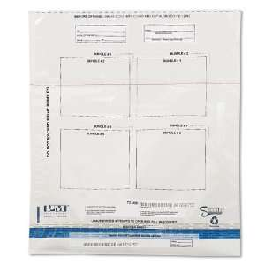plastic bundle bags for transporting currency.   Self sealing and
