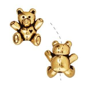 22K Gold Plated Pewter Teddy Bear Beads 14mm (2) Arts