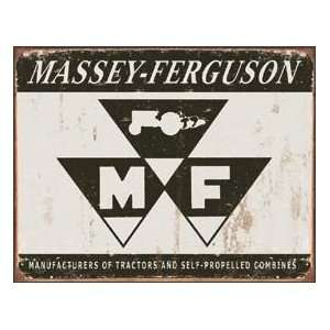 Tin Sign   Massey Ferguson Tractors Logo Patio, Lawn & Garden