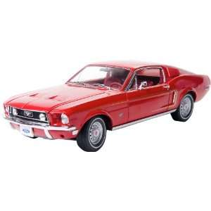GreenLight 118 1968 Ford Mustang GT fastback   Red With