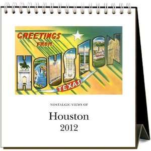 Nostalgic Views of Houston 2012 Easel Desk Calendar