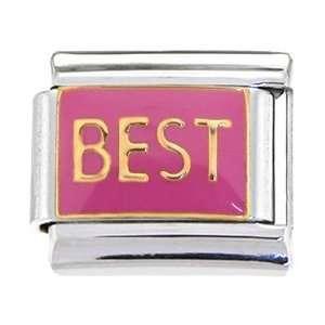 Gold Pink Best Italian Charm Jewelry