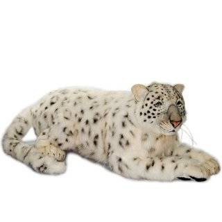 Hansa Snow Leopard Cub Stuffed Plush Animal, SItting Toys